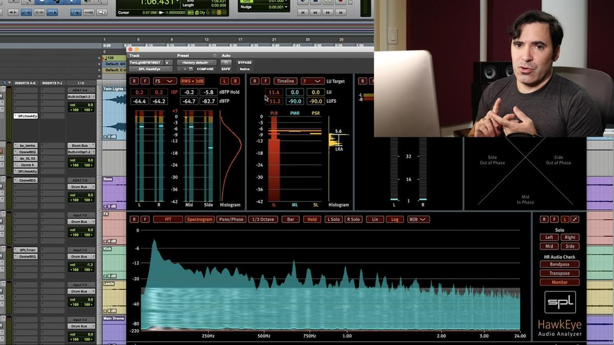 iZotope Ozone in Pro Tools for mastering