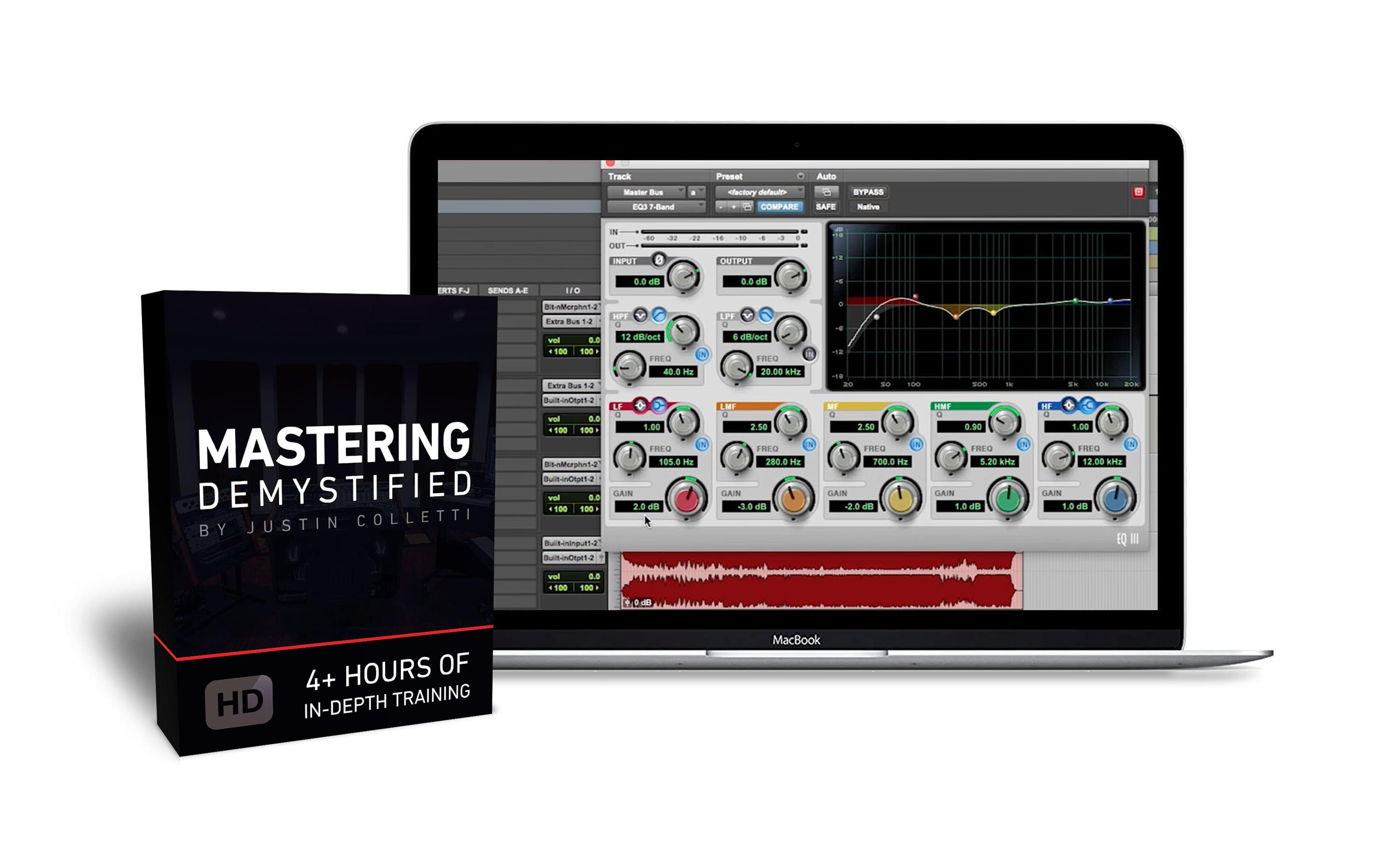 Mastering Demystified product box and screenshot