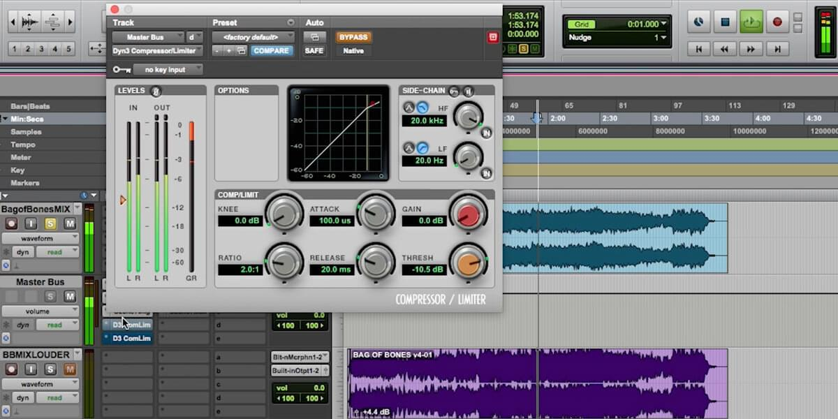 compressor plugin in pro tools